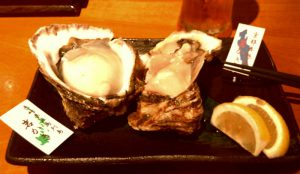 京都・錦市場「だいやす」鱧&牡蠣